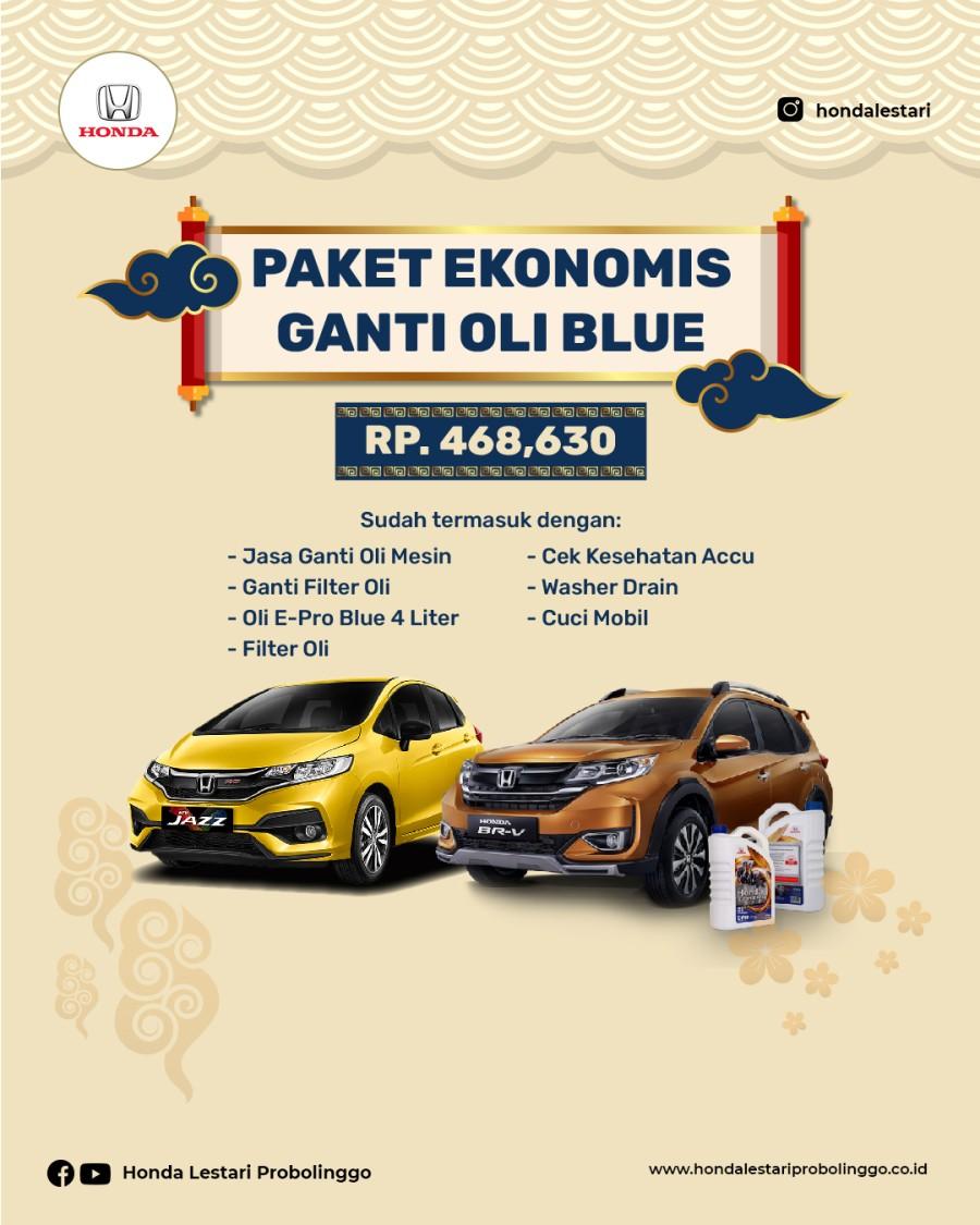 Paket Fanti Oli Ekonomis Blue Honda