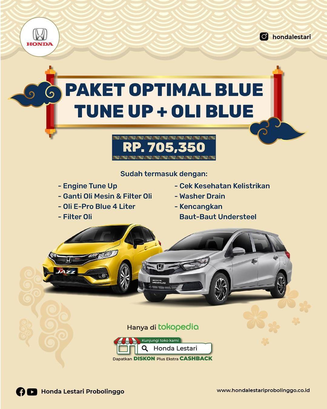 Paket ganti Oli Ekonomis Blue Honda