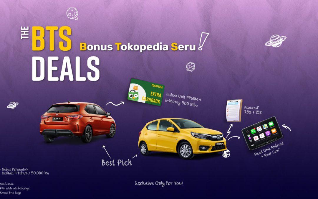 Spesial Promo BTS Deals Honda Tokopedia