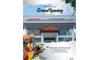 The Grand Opening Of Honda Tabanan