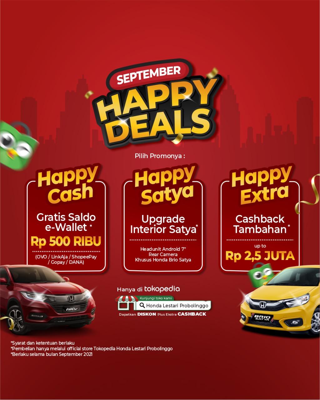 Promo Honda Happy September Probolinggo