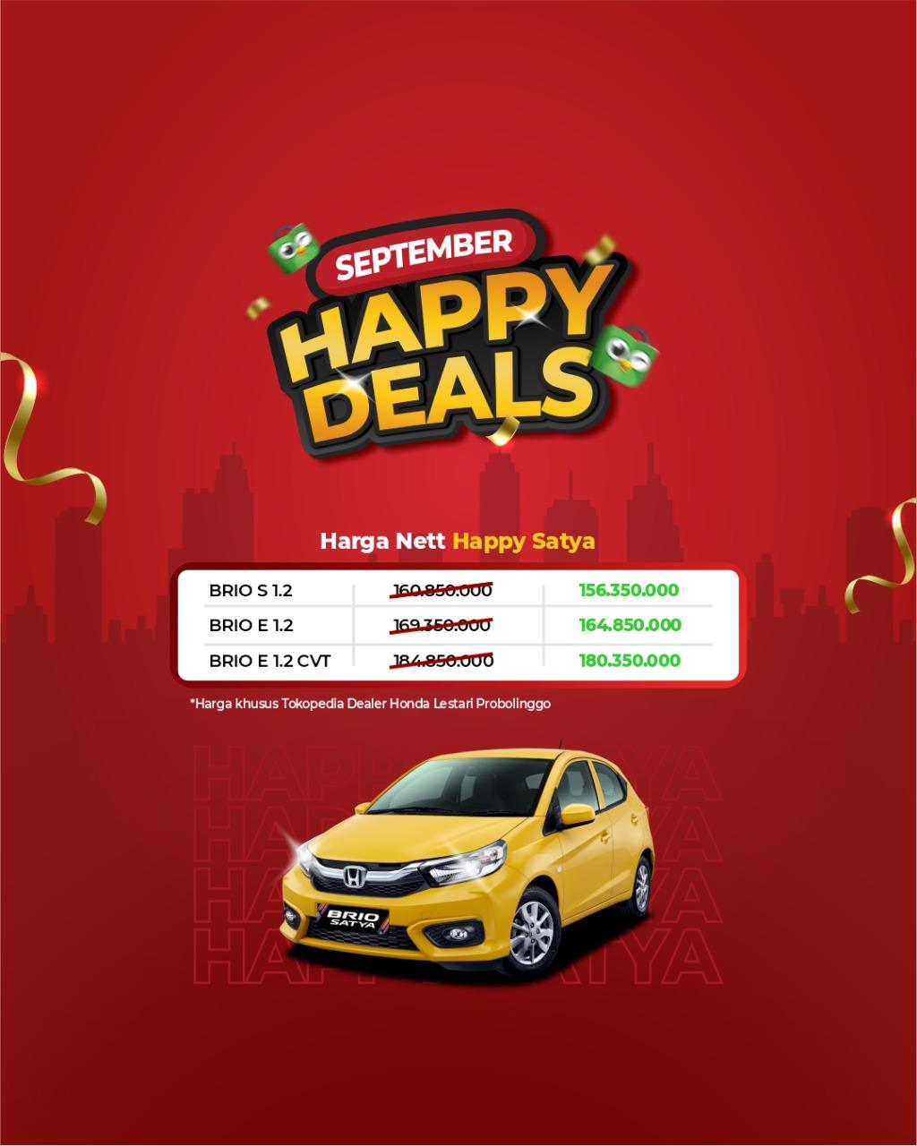 Promo Nett Honda Happy Satya
