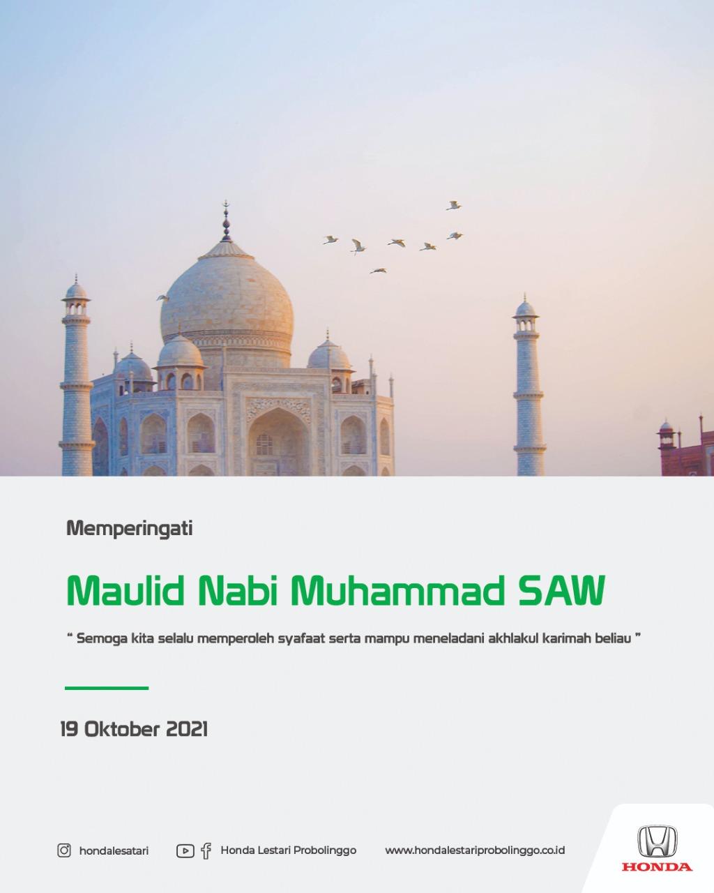 Hari Maulid Nabi Muhammad SAW 1443 Hijriah