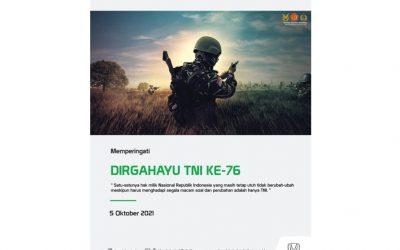 Memperingati Dirgahayu TNI Ke-76 Tahun